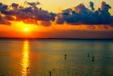 landscape sunrise in the clouds over the Crimean bridge © Алексей Кайдалов