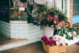fresh flowers store in the street