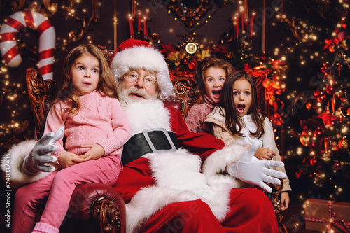 kids with santa - 240337435