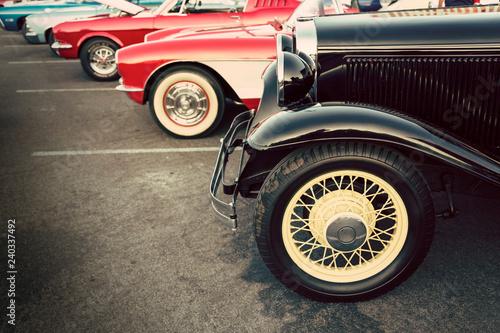 Classic cars public display