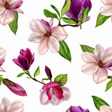 Watercolour illustrations hand painted. Seamless pattern on a white background for your design, wrapping paper, fabric, background, etc. Watercolour and manual artwork, spring background, wedding card