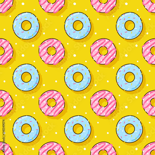 obraz lub plakat Seamless pattern with color donuts for Your design