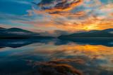 Tranquil mountain lake colorful sunset © Sergiu B. - RAW Gaea