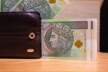 Polish zloty close up