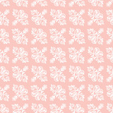 Classic seamless vector pattern. Damask orient pink and white ornament. Classic vintage background. Orient ornament for fabric, wallpaper and packaging - 240385462