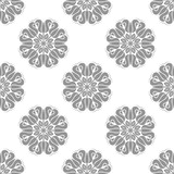 Floral vector ornament. Seamless abstract classic background with silver flowers. Pattern with repeating floral elements. Ornament for fabric, wallpaper and packaging - 240401074