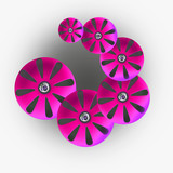 Flusso alieno rosa 2