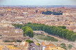 Quadro Landscape of Rome from st Peter´s Basilica, Italy