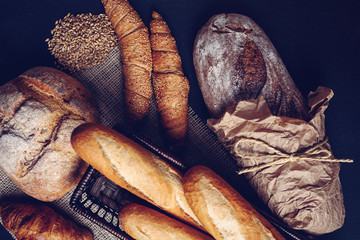 Traditional handmade breads and pastries.
