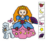 Princess. Find the objects hidden in the picture. Games for kids.Educational activity for children.