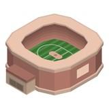 Sport stadium icon. Isometric of sport stadium vector icon for web design isolated on white background