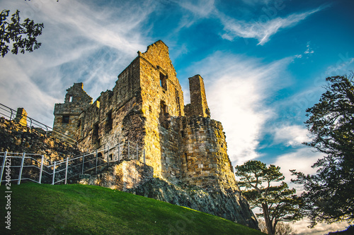 Scottish Castles Scotland  Ruins Historical Travel Concept Scottish Medieval Architecture