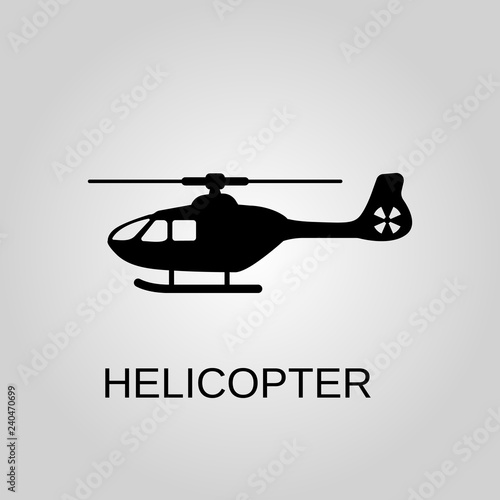 Helicopter icon. Helicopter concept symbol design. Stock - Vector illustration can be used for web.