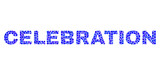 Vector dot Celebration text isolated on a white background. Celebration mosaic title of circle dots in various sizes.
