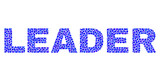 Dot vector Leader text isolated on a white background. Leader mosaic tag of circle dots in various sizes.