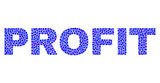 Vector dot Profit text isolated on a white background. Profit mosaic name of circle dots in various sizes.