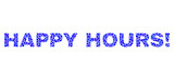 Dot vector Happy Hours! text isolated on a white background. Happy Hours! mosaic tag of circle dots in various sizes.
