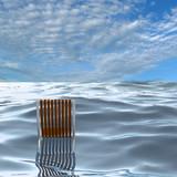 chair on sea, 3d rendering