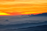 Sunset and sea of clouds