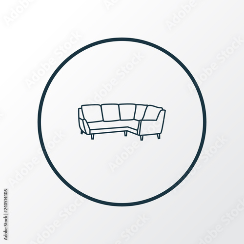 Corner Sofa Icon Line Symbol Premium Quality Isolated Settee