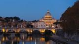 hyper lapse of St. Peter's Basilica, Sant Angelo Bridge, Vatican, Rome, Italy - 240522636