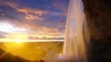 time lapse, Seljalandsfoss waterfall, Iceland - 240522868