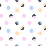 Trendy abstract polka dot abstract seamless pattern.
