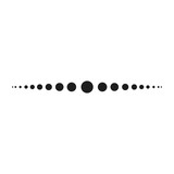 dotted line simple shape vector symbol icon design. Beautiful illustration isolated on white background