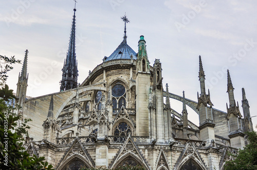 obraz PCV Notre-Dame Cathedral in Paris, France, the most famous of the Gothic cathedrals of the Middle Ages.