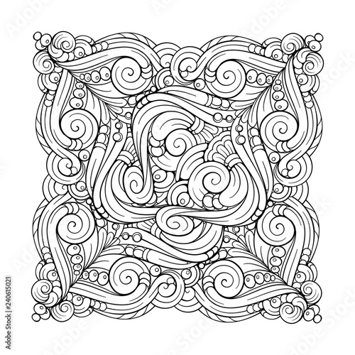 Vector abstract black and white motif