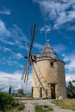 old windmill near the village of Saint Michel observatory in the Luberon, France