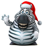 Fun zebra - 3D Illustration © Julien Tromeur