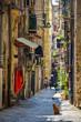 Quadro Empty street at the city of Naples, Italy
