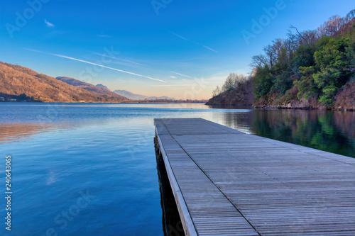 Acrylglas Pier Il pontile sul lago