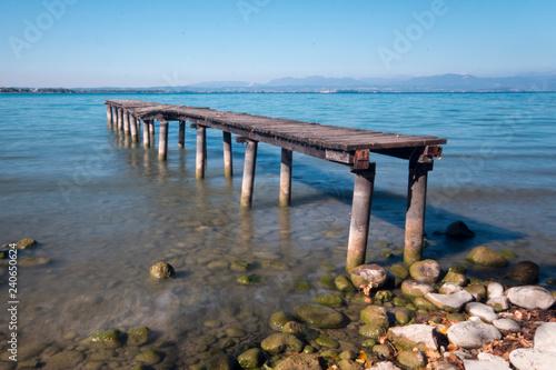 Acrylglas Pier Vecchio pontile di legno sul lago