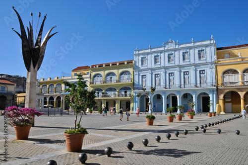 mata magnetyczna Plaza Vieja, La Habana, Havanna, Kuba