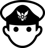 Admiral With Eagle Decoration Icon - 240675052