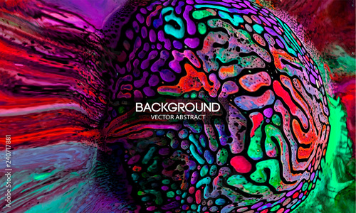 Magnetic field liquid.Abstract texture splash explosion colorful bright liquid neon MULTICOLOR.Art design presentations,prints,wallpapers,flyers,cards,screensavers,paintings,websites,packaging,cover
