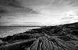 the pointe de la torche rocky coast in brittany