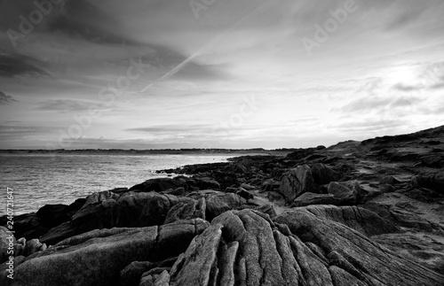 the pointe de la torche rocky coast in brittany - 240721647
