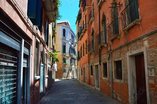 Venice street scene in summer - 240725409