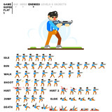 Animation of a man with a shotgun for creating a video game - 240730088