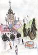 Ancient church in  Vilnius - 240730657
