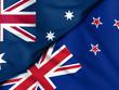 Quadro  Flag of Australia. Flag of New Zealand.