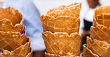 Wafer style ice cream cones for Spring Festival outdoor event