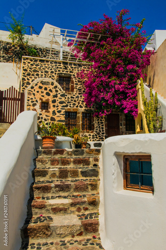 Santorini Fira, Greece - stairway in the center © luca