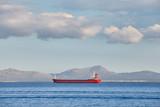 View of a general cargo ship passing an island. © MaciejBledowski