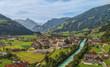 Leinwanddruck Bild - Zell am Ziller Zillertal Tirol Luftbild Berge Dorf Fluss Tal Alpen Idylle Heimat Landschaft