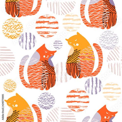 obraz PCV Cat pattern1