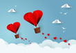 Heart air balloons. Love and valentines day.